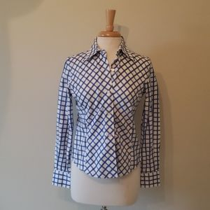 Faconnable Blue and White check shirt size S